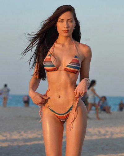 Georgina Mazzeo at beach