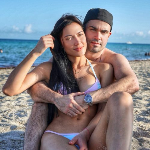 Georgina Mazzeo with her husband