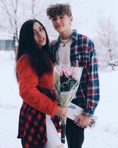 Rachel Underhill with her boyfriend