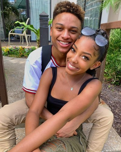 Gabby Morrison with her boyfriend, Andre Swilley