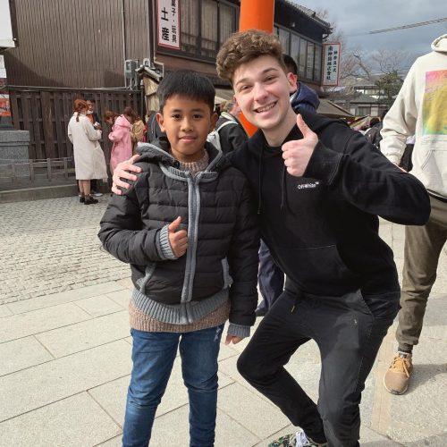 Poke with his fan