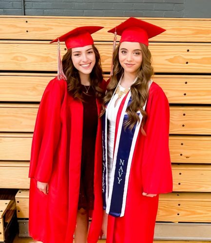 Ahlyssa Marie at her graduation with her friend