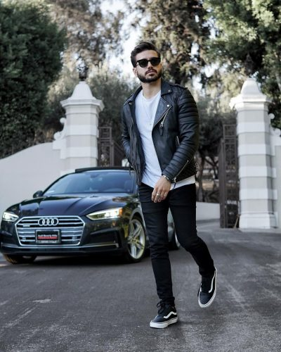 Alex Costa on the frame with his Audi