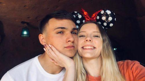 Megan Rose with her boyfriend, Geno Bonfiglio