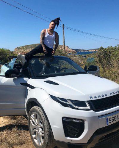 Reggie Mills on his Range Rover