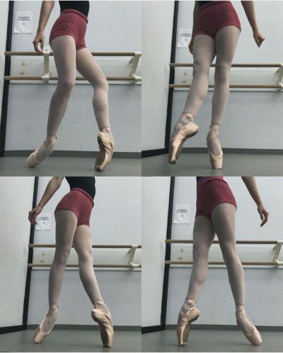 Mackenzie Davis showing off her ballet moves