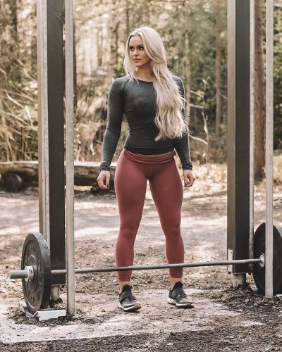 Anna Nystrom while working out