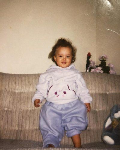 Faouzia when she was 2