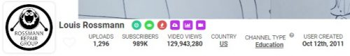 Louis Rossmann s YouTube Stats