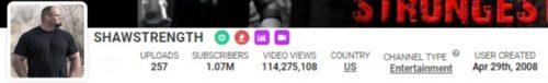 SHAWSTRENGTH s YouTube Stats