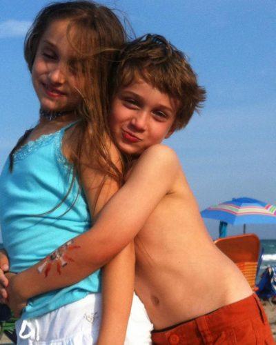 McKenzi Brooke with her brother, Reif Howey