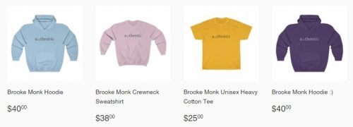 Brooke Monk's Merchandise