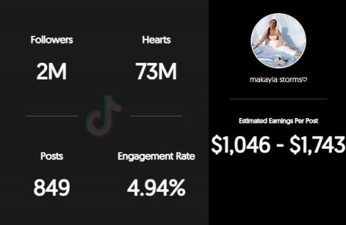 Makayla Storm TikTok earnings