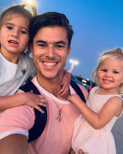 Chase Mattson with his daughters
