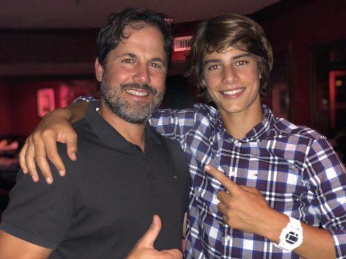 Corrado Martini with his dad