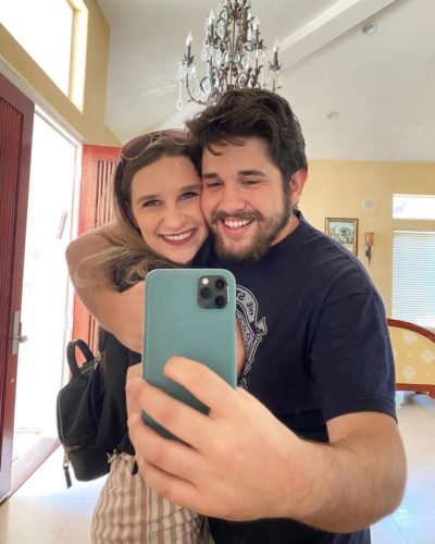 Evan Alberto with his girlfriend
