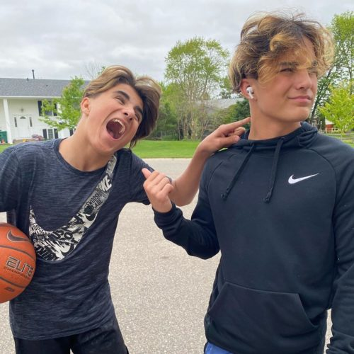 Jayden Haueter and his brother
