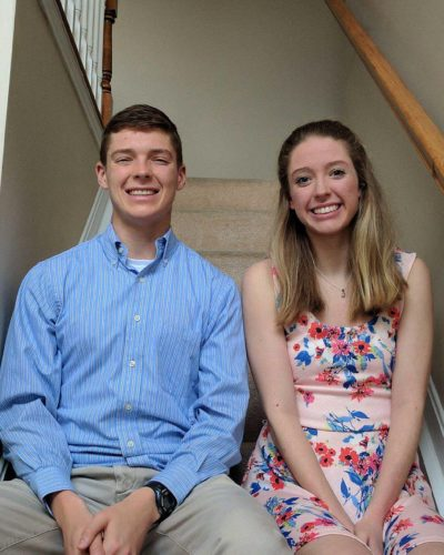 Nathan Freihofer with his sister