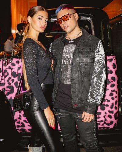 Roberta Carluccio with her boyfriend