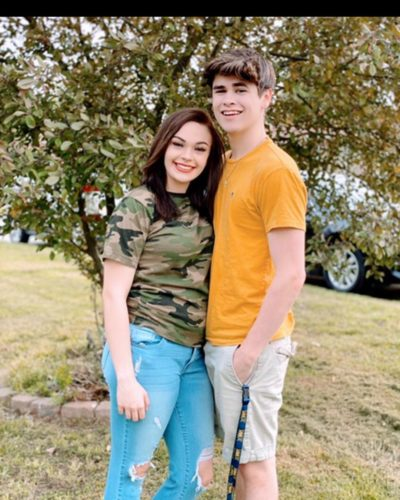 Tristan Blane with his sister