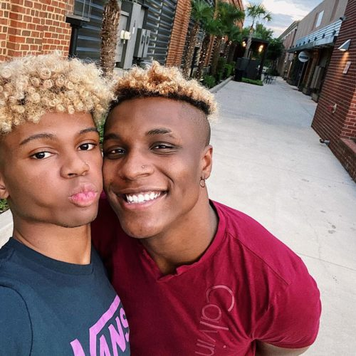 Jaylin Goodman with his boyfriend