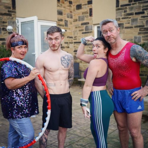 Nile Wilson WIth his family
