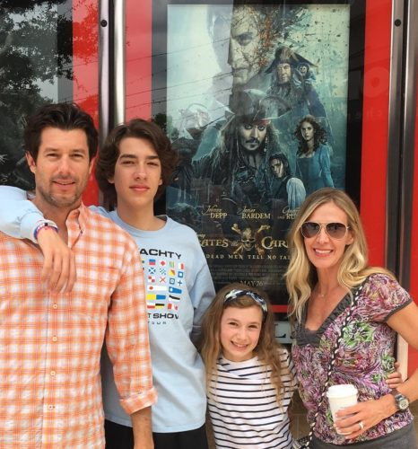 Baylen Levine with his family
