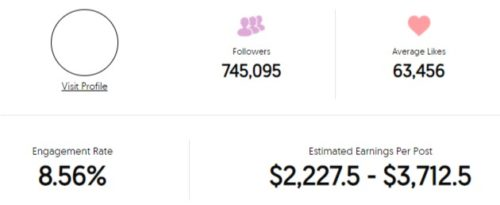 Eli Unique Estimated Instagram earning
