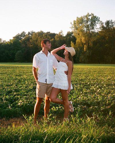 Hannah Meloche with her boyfriend