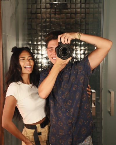 Kayla Kosuga with her boyfriend
