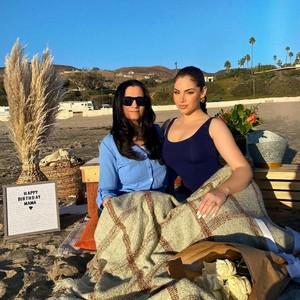 Nazanin with her mom