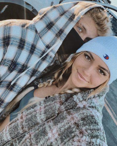Abby Wetherington with her boyfriend