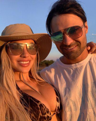 Alexa Dellanos with her boyfriend