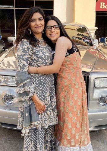 Azreena Tejani with her sister