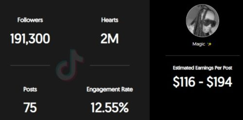 BabyMagic estimated TikTok earning