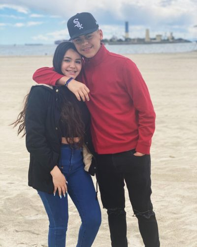 Delayza with her boyfriend