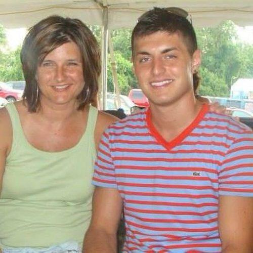 Derek Lipp with his mother