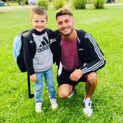 Derek lIpp with his son
