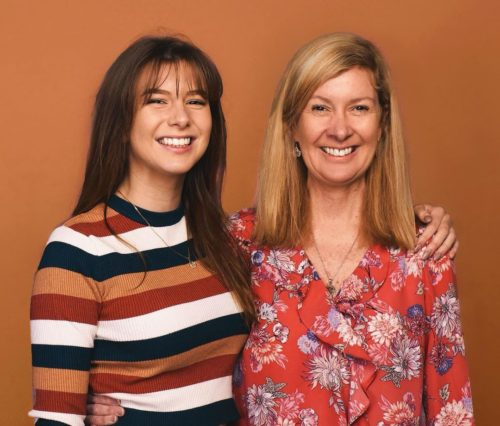 Georgia Productions with her mother