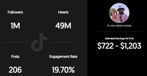 Jesse Fontanila's estimated TikTok earnings
