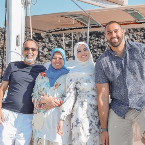 Mouhammad Elbannan with his family