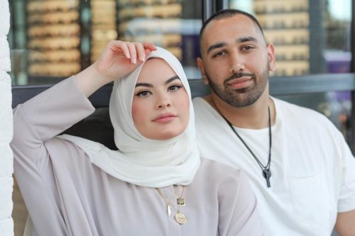 Mouhammad Elbannan with his wife
