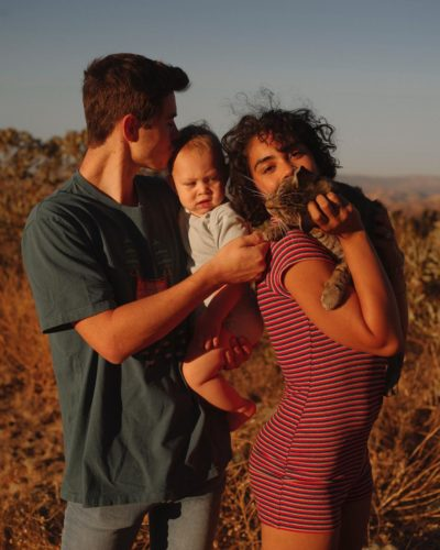 Nash Grier with his Fiance and baby