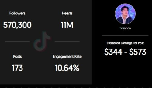 Flowbrandon estimated TikTok earning