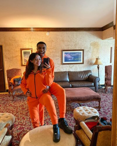 Dreaa_g with her boyfriend