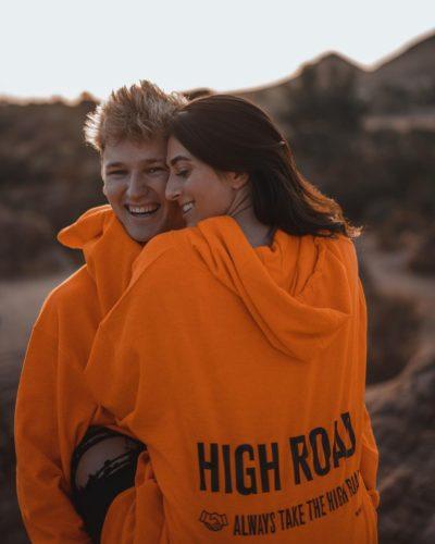 Drew Dirksen with his girlfriend