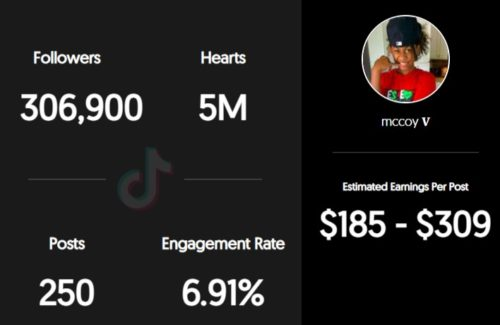 Mar McCoy estimated TikTok earnings per sponsored post