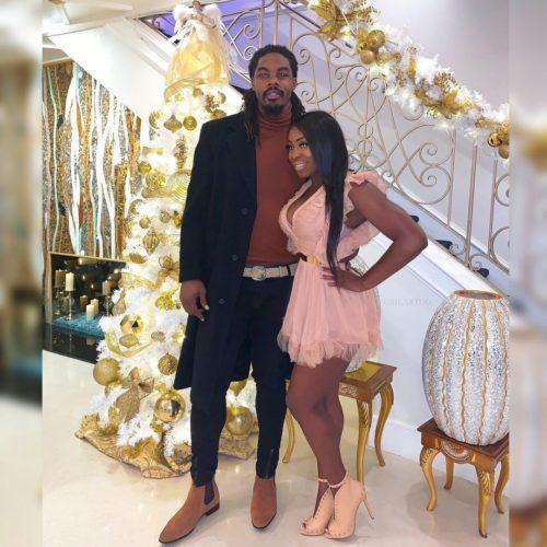 Ogom Chijindu with her husband