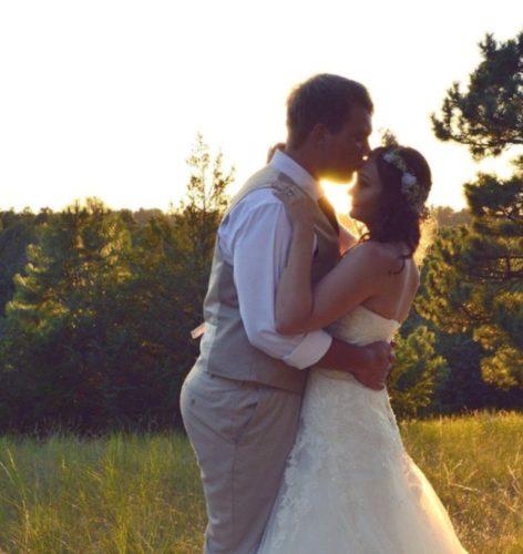 Skye with her husband