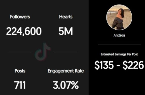 Wild.drea estimated TikTok earnings per sponsored post